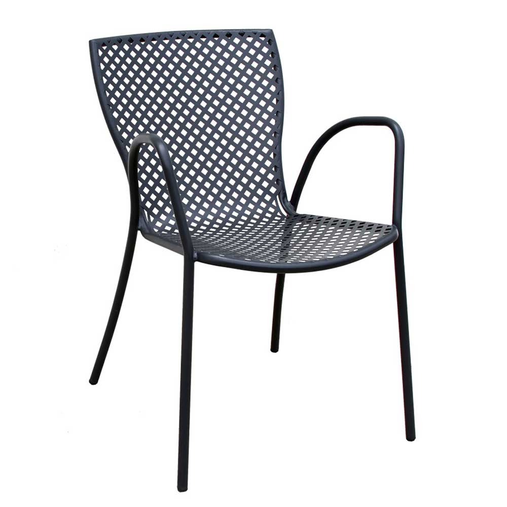 Black Country Metal Casual Stacking Chairs