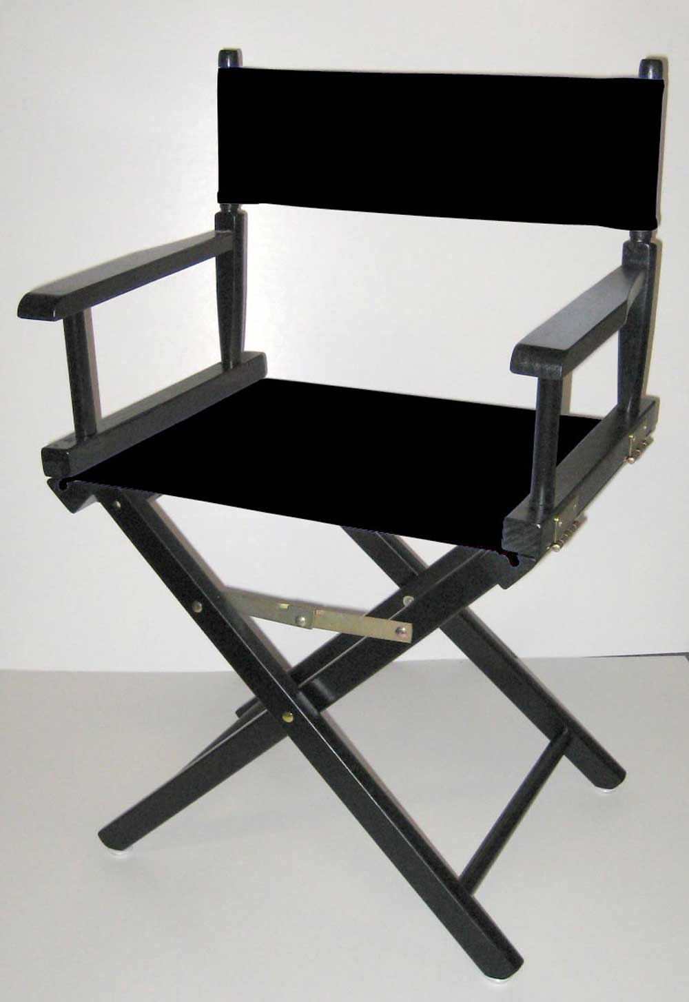 Black Frame Canvas Folding Directors Chairs