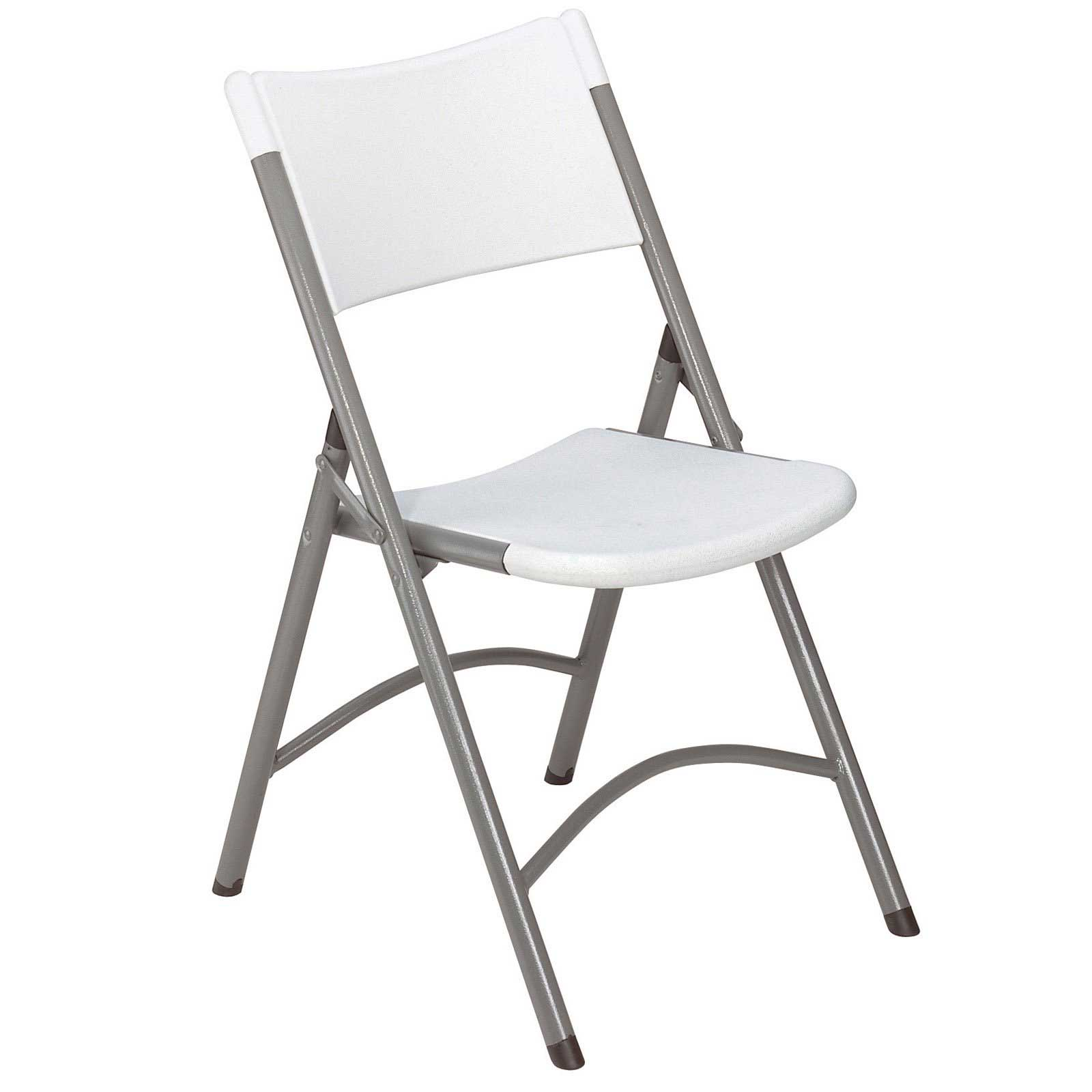 Blow molded lightweight folding chairs in white
