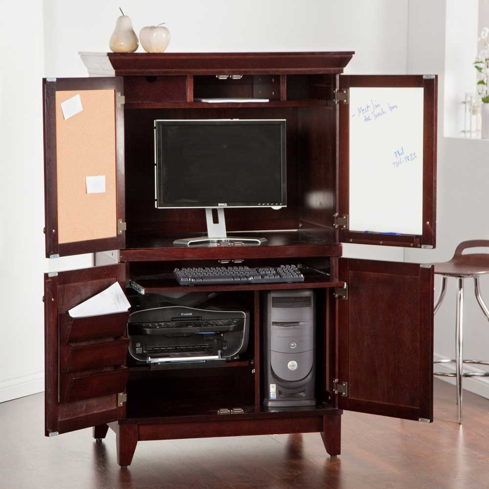 Charleston solid wood cofee computer armoires for home
