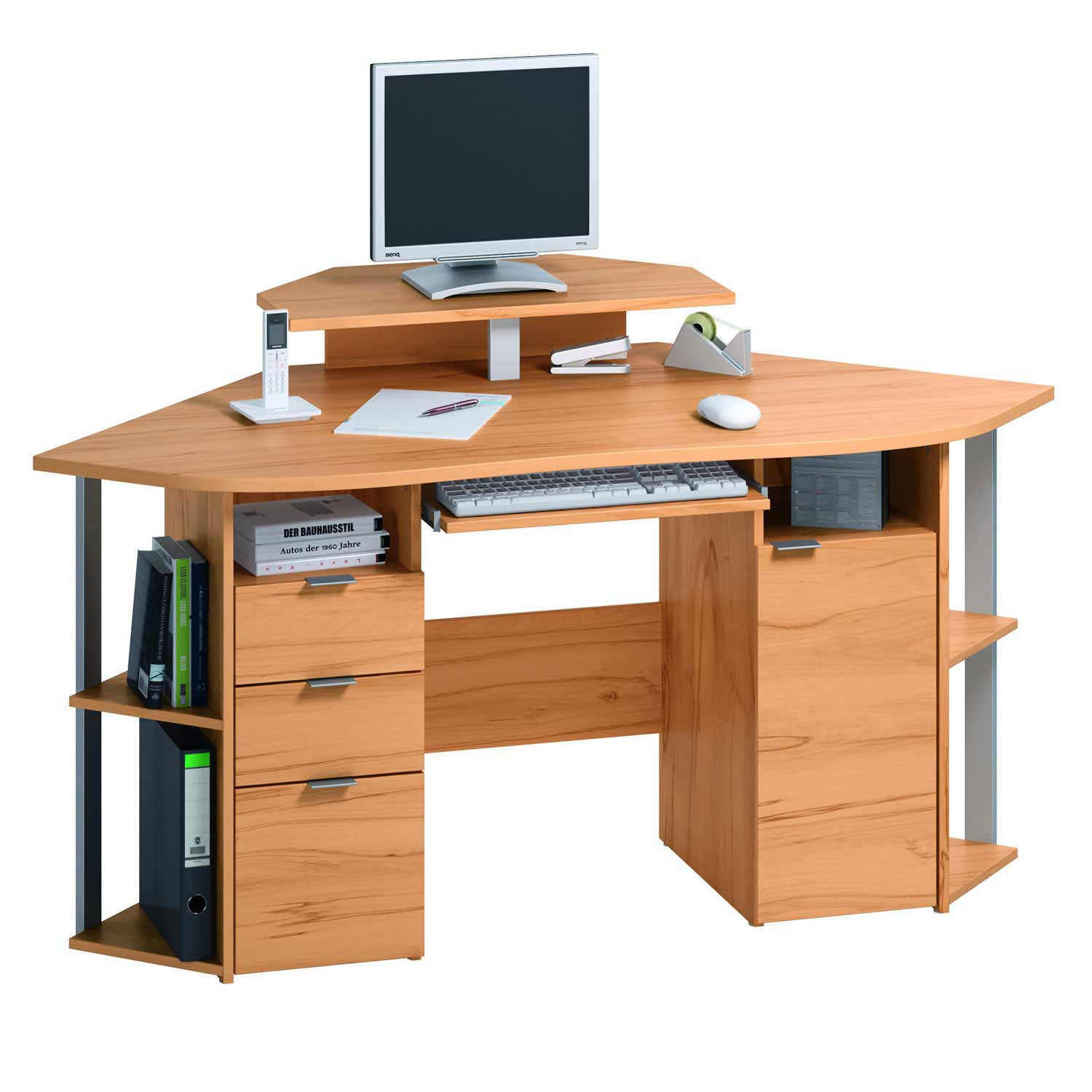 Contemporary computer desk office furniture - Mobile computer ikea ...