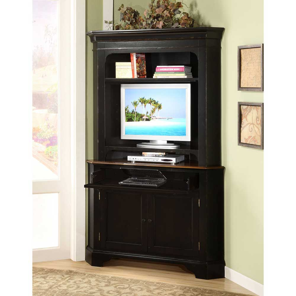 Crossroads Riverside Corner Laptop Cabinet with Hutch