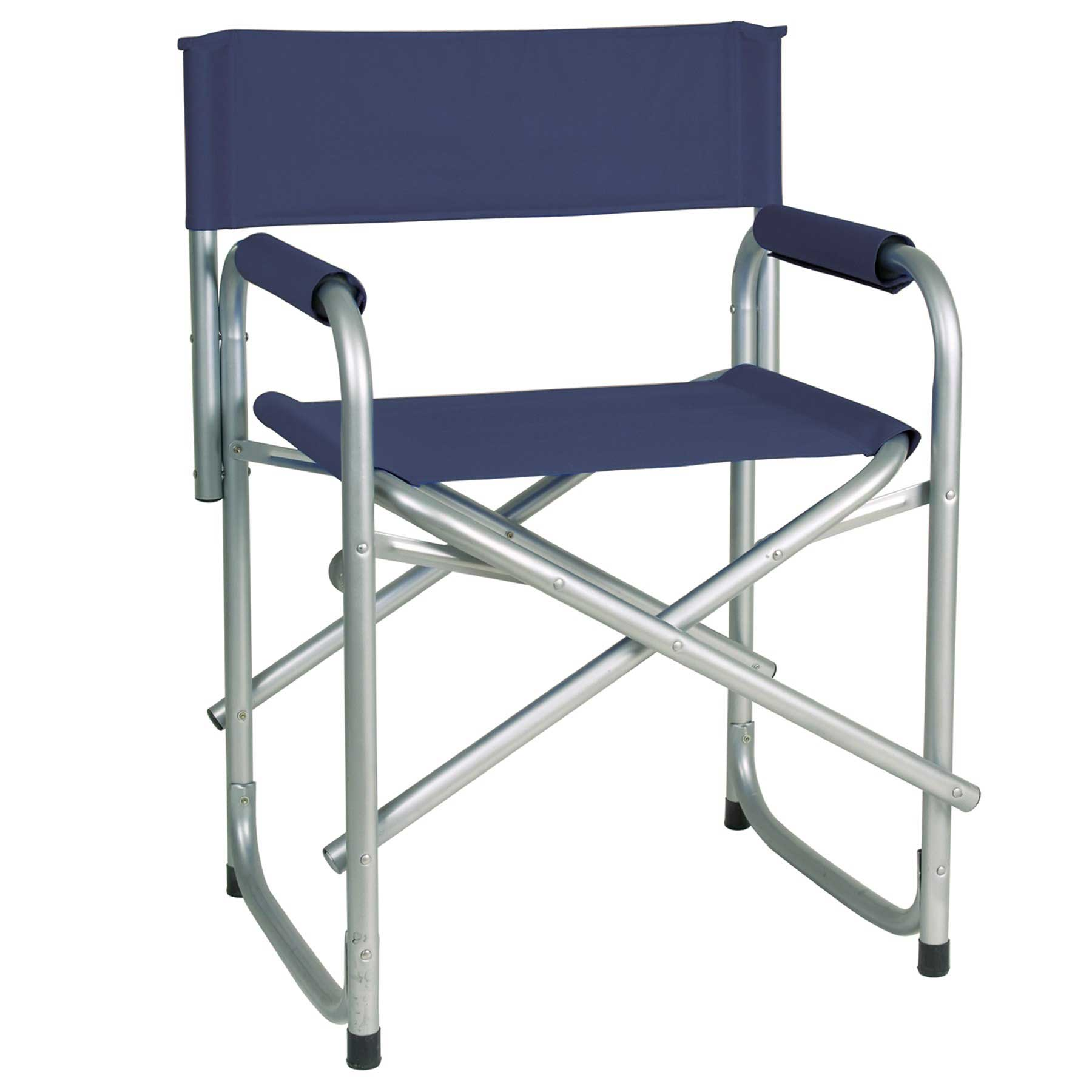 Portable Director Chair with Side Table Easy Up Steel Folding