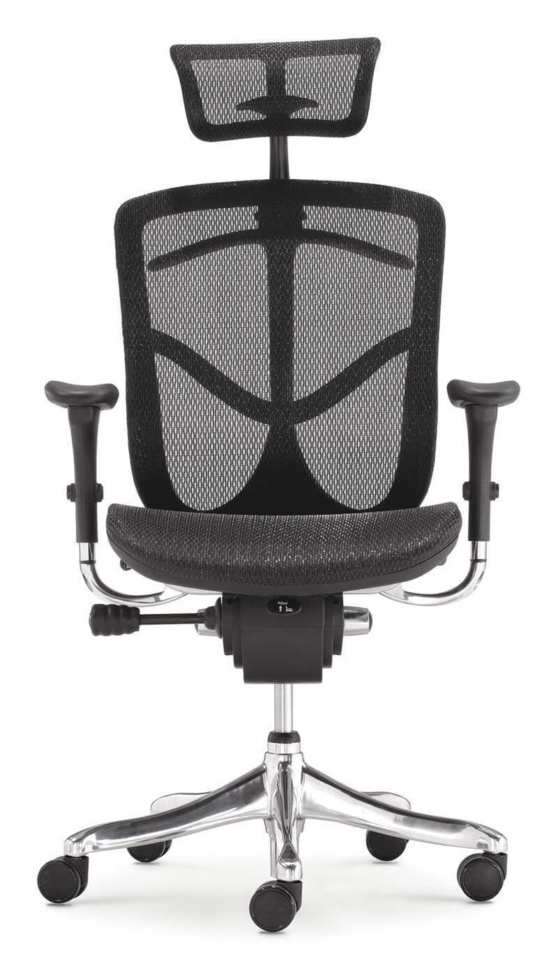Polyurethane Casters For Office Chairs Ergonomic highback and adjustable headrest mesh office chair
