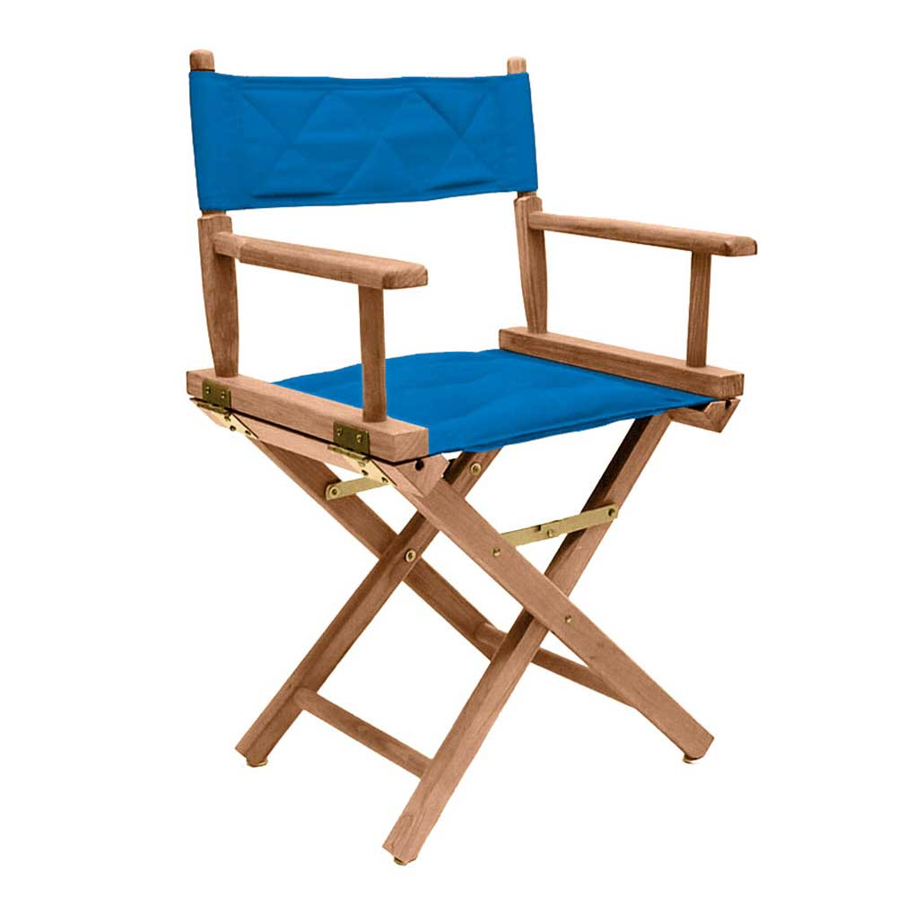 Folding Solid Teak Directors Chair