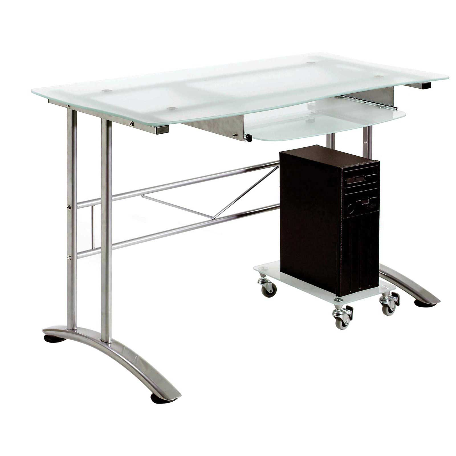 Modern glass desks for flexible work Designer glass computer desk