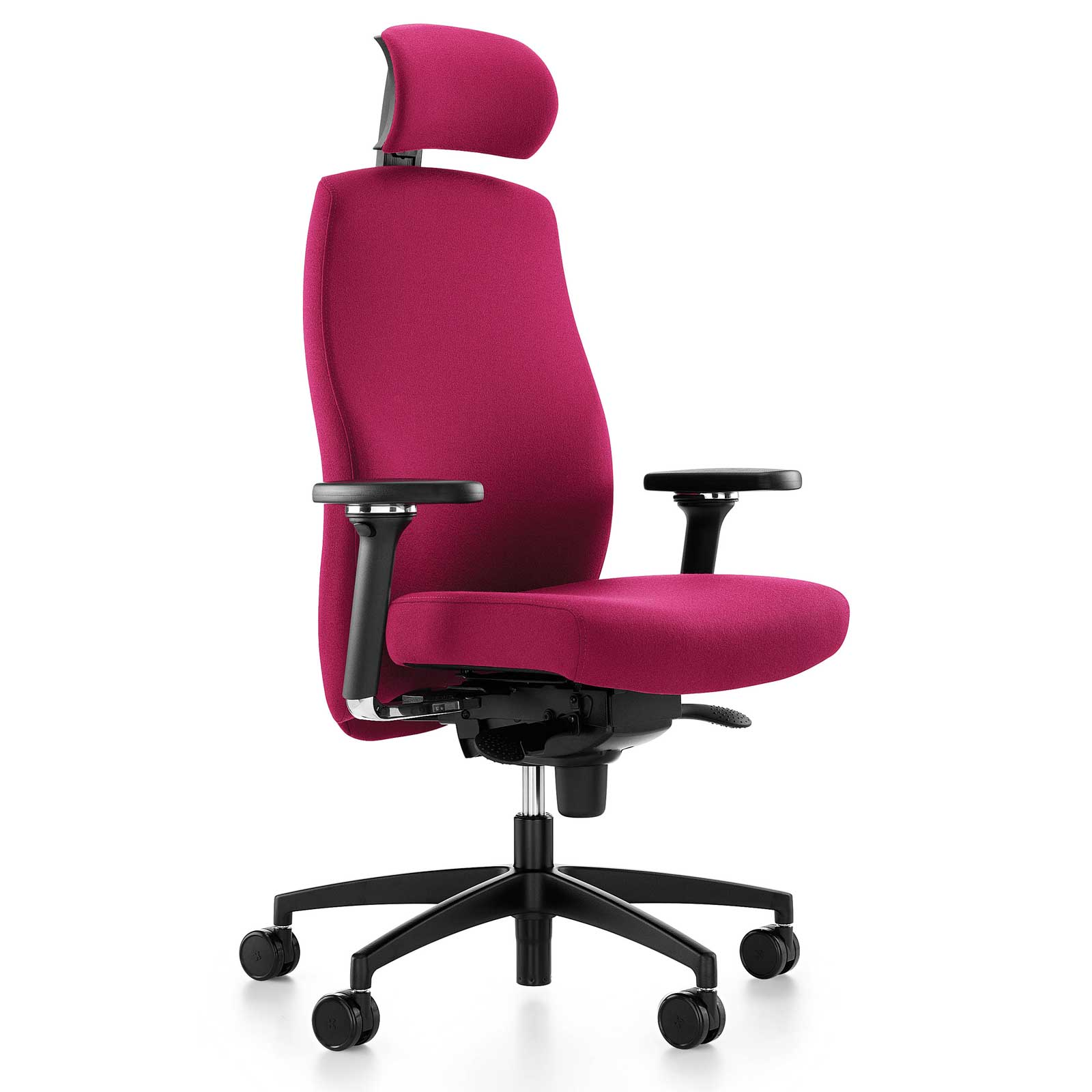 Komac One High Back Red Task Chair with Headrest