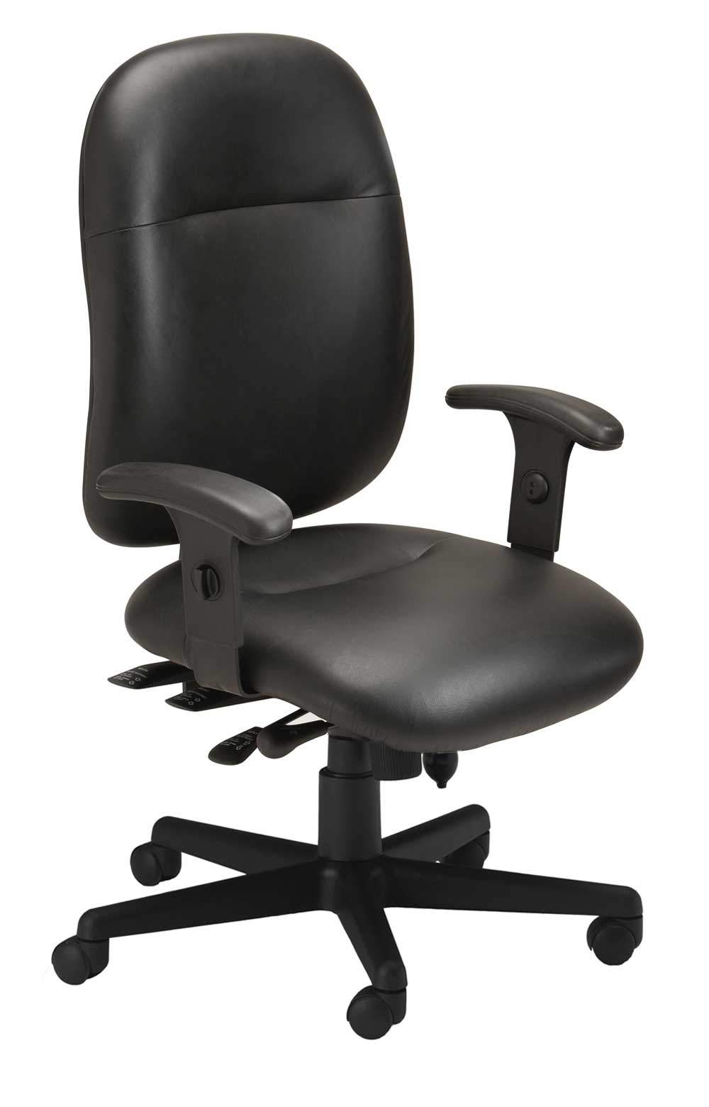 Mayline 24 Hour Leather Office Desk Chair