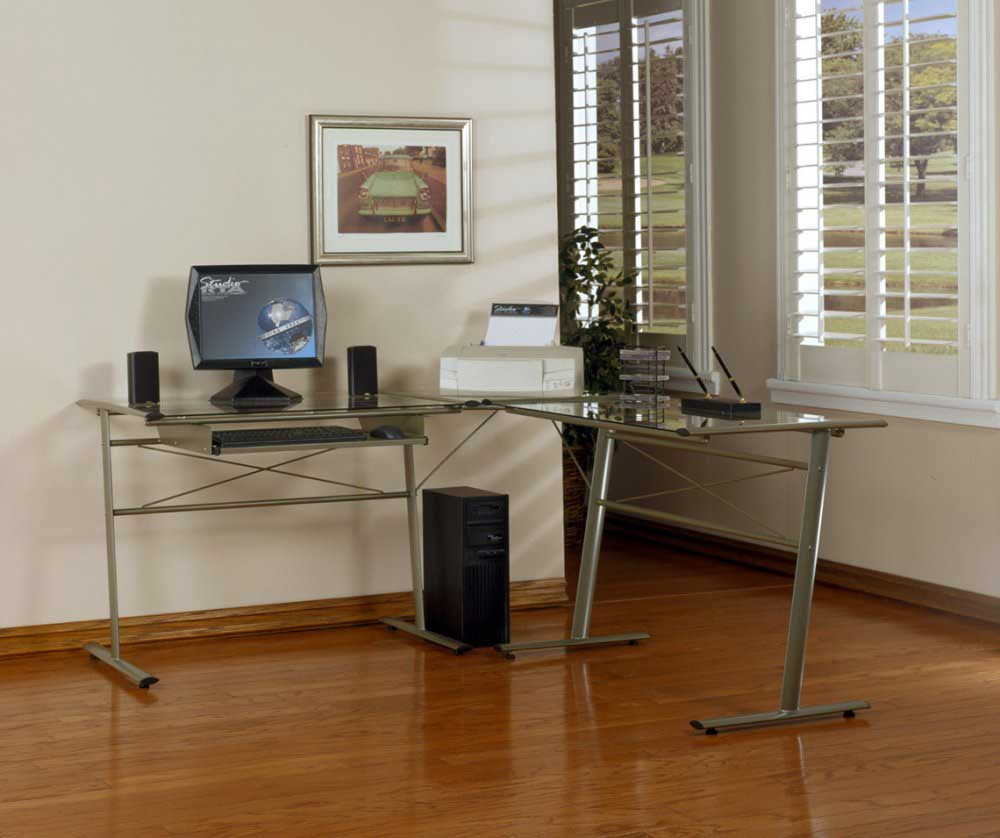 Metal L-Shaped Fierro RTA Studio Desk