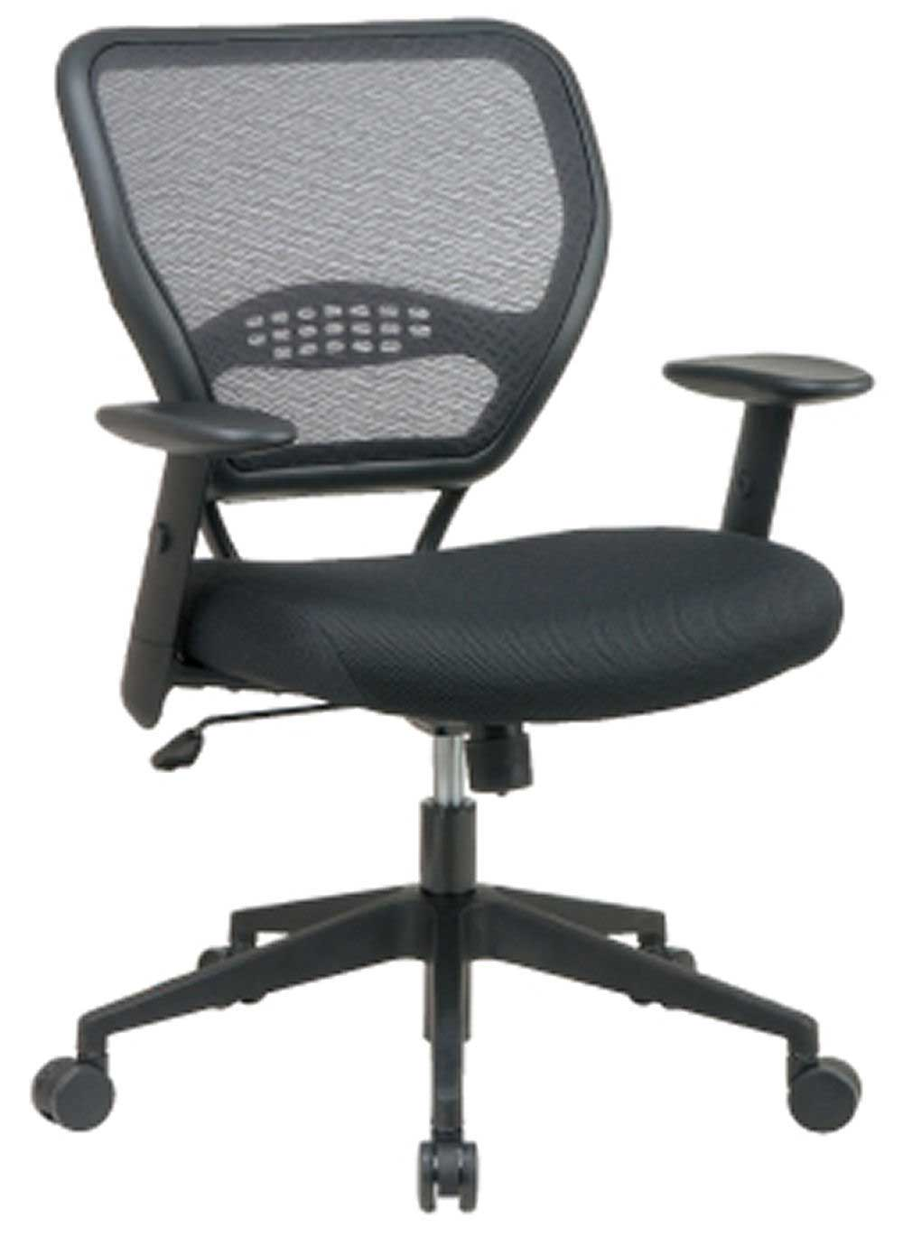 Mid back black executive mesh chair design