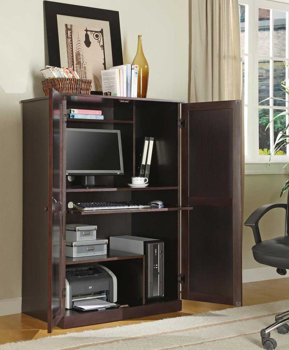 Ikea corner computer armoire office furniture for Meuble informatique