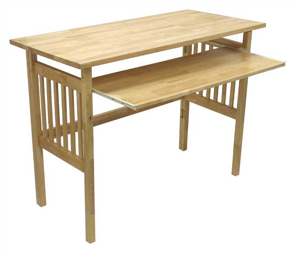 Natural Finish Plain Wooden Keyboard Tray