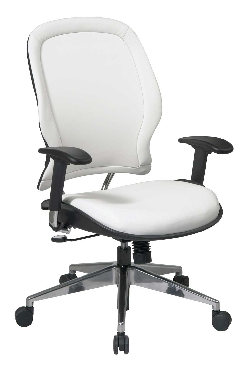Office Star Ergonomic White Vinyl Luxury Office Chair