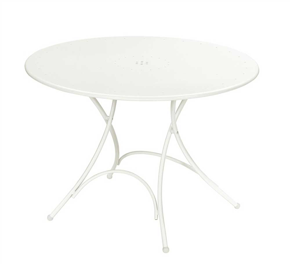Pigalle Round White Folding Tables