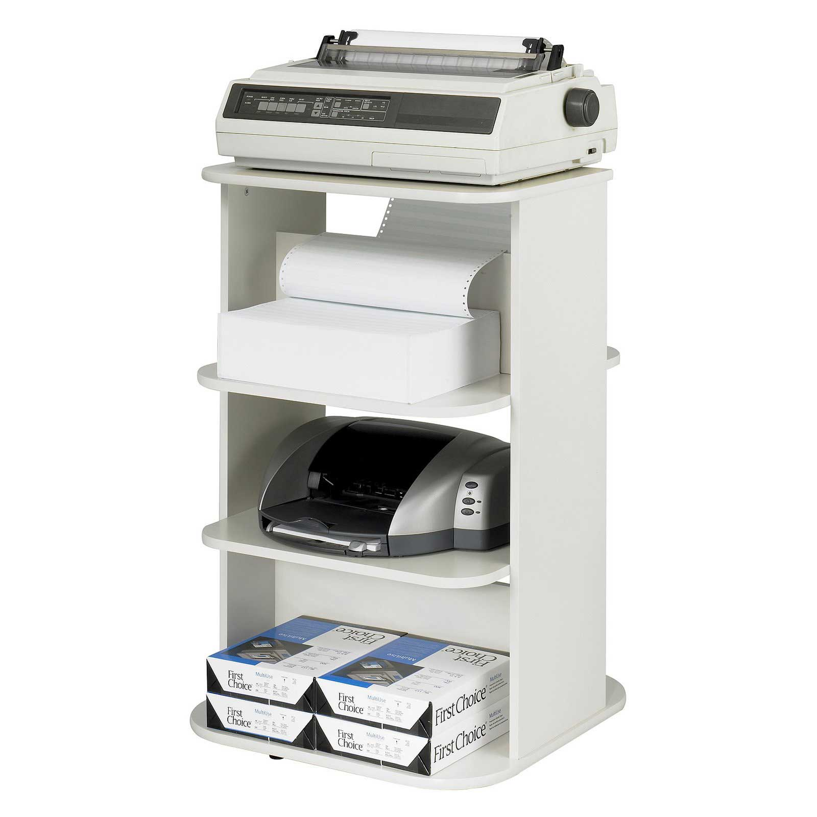 Safco Double Rotating Office Printer Stand