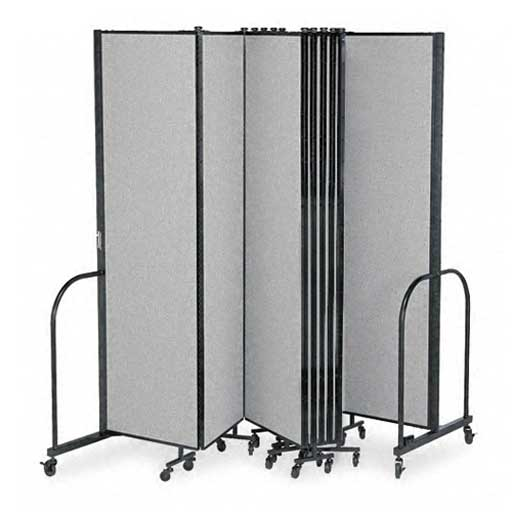 Screenflex portable partitions for home office for Movable walls room partitions