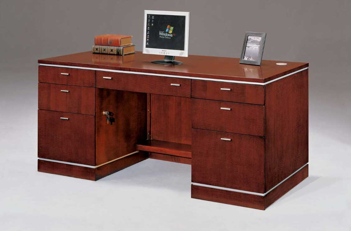 Small executive office computer workstation