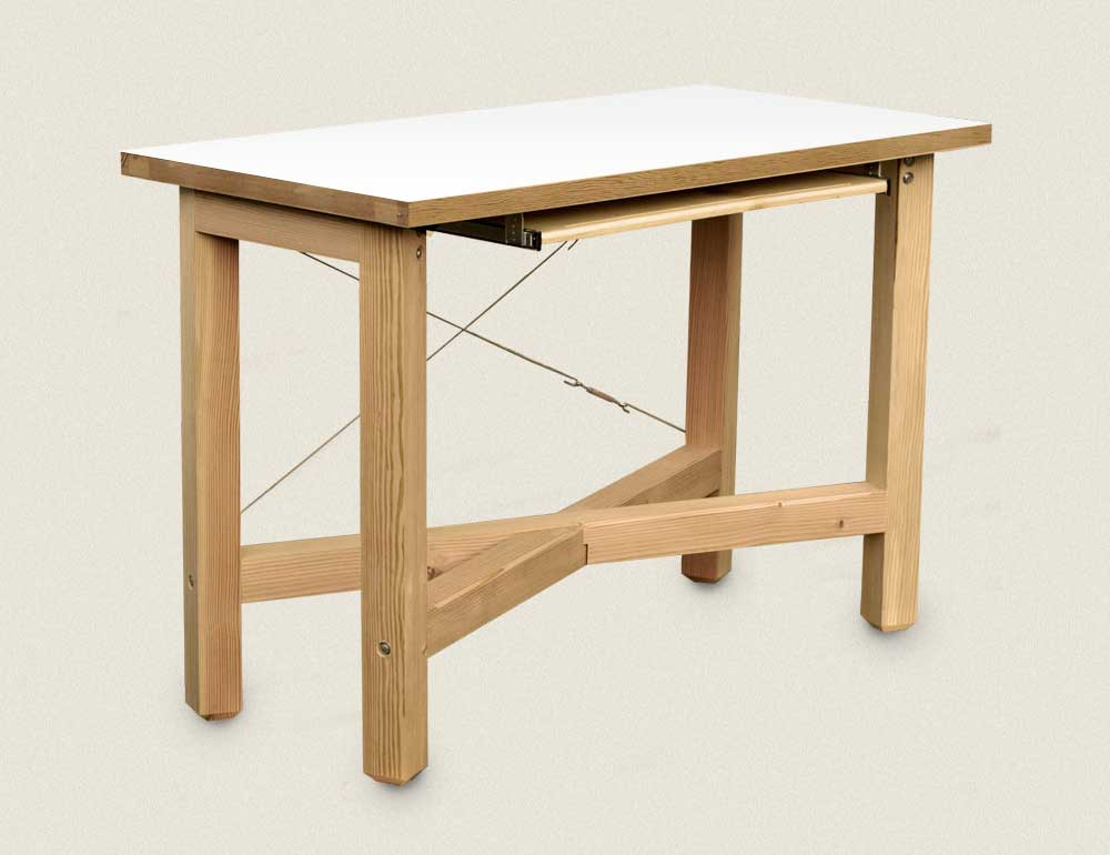 Solid Wood Standing Office Desk