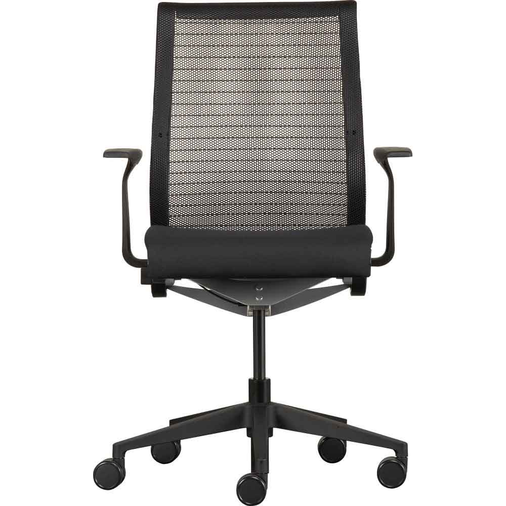 Steelcase Think Back Mesh Office Arm Chair with Cushion