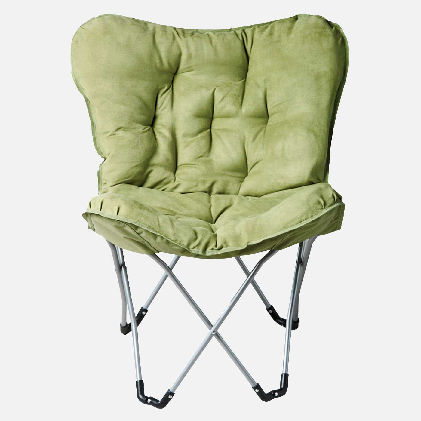 Stylish Green Folding Chair with Cushion
