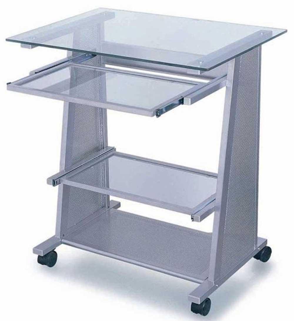 Stylish Modern Mesh Glass Desk for Home Office Desktop