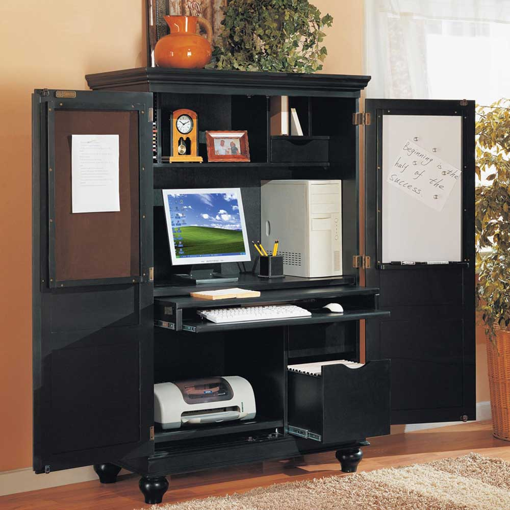 IKEA corner computer armoire | Office Furniture