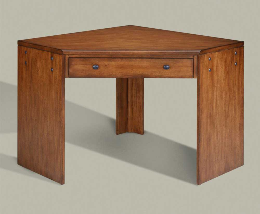 Tango oak contemporary corner desk