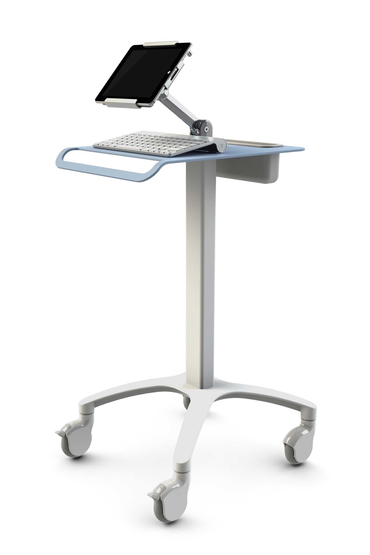 VESA hospital computer cart