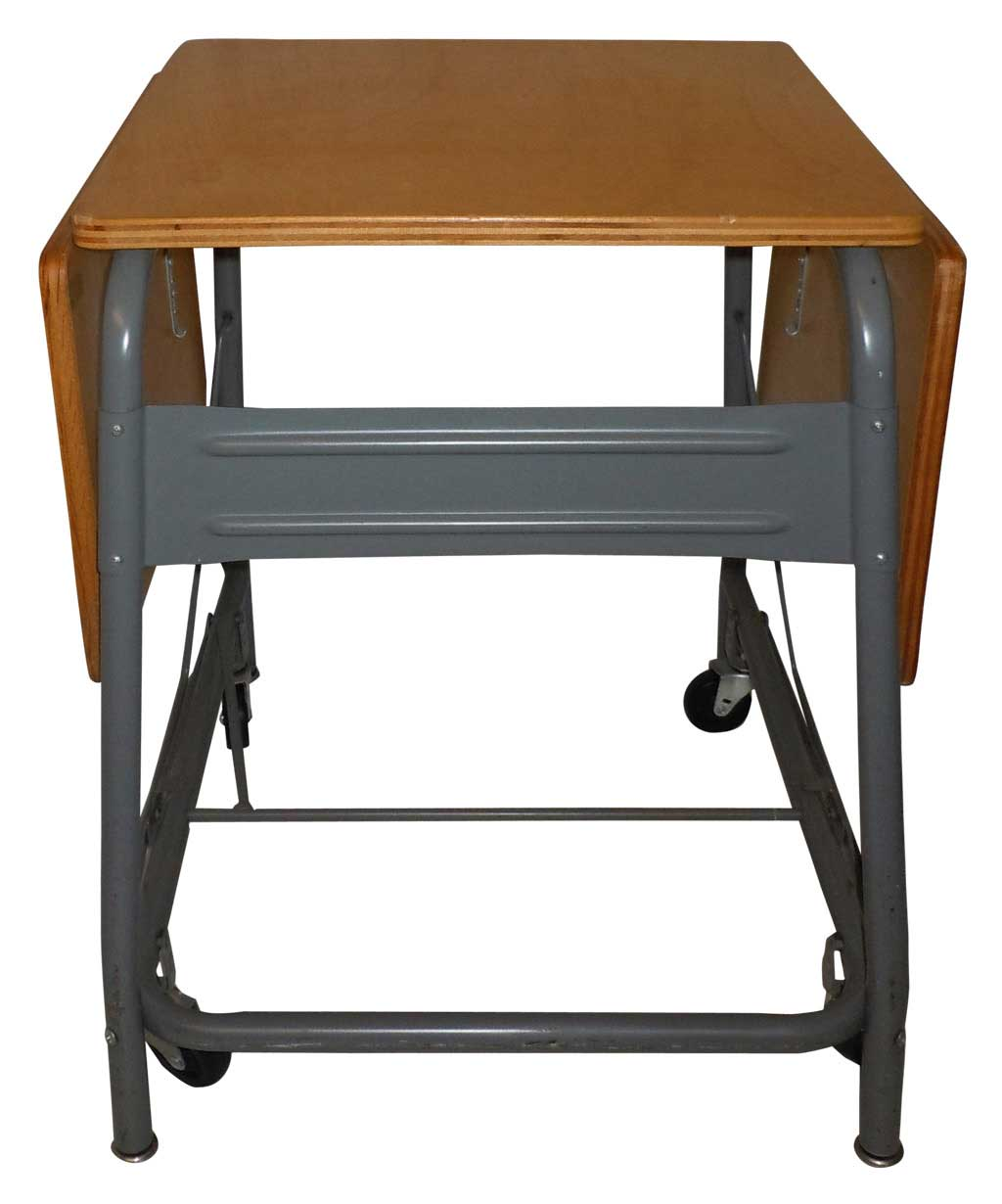 Vintage Folding Typing Table and Rolling Printer Stand