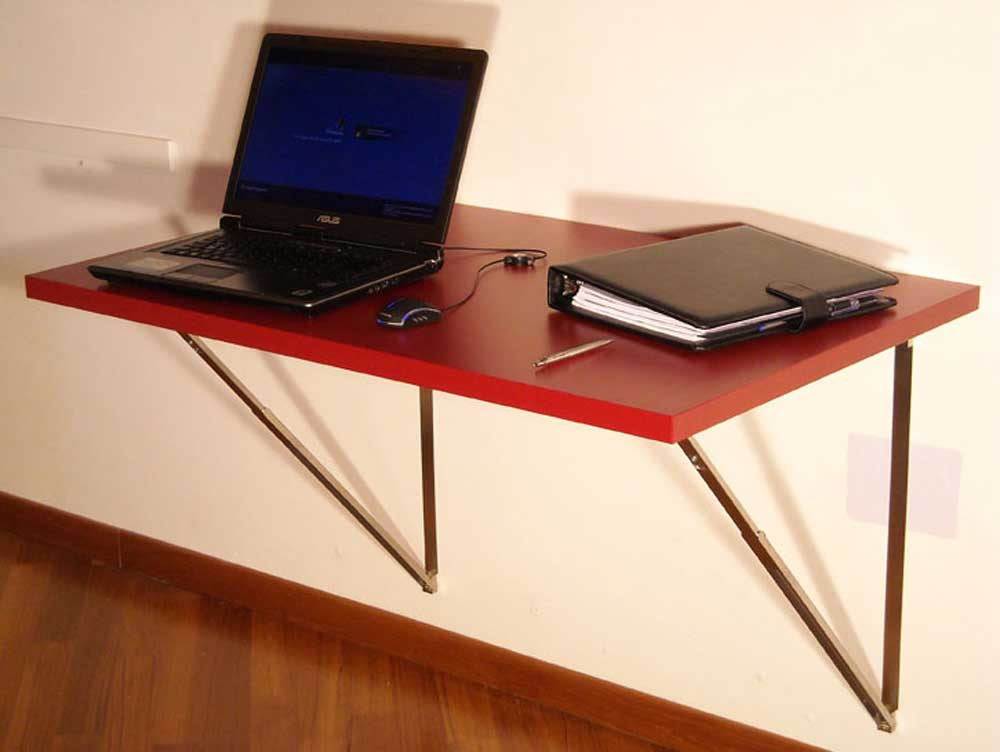 Wall mounted folding desk pictures to pin on pinterest