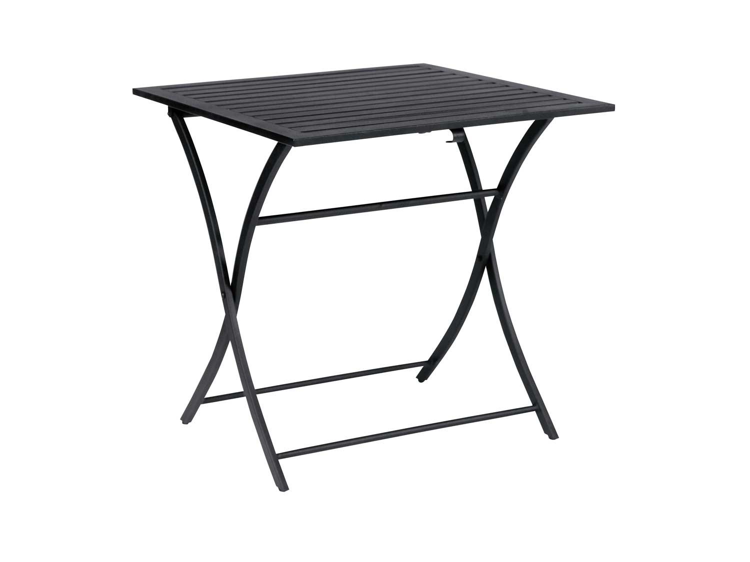 Wrought Iron Black Folding Square Table