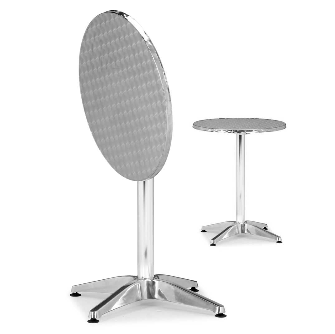 Zuo Modern Aluminum Small Folding Table Christabel Series