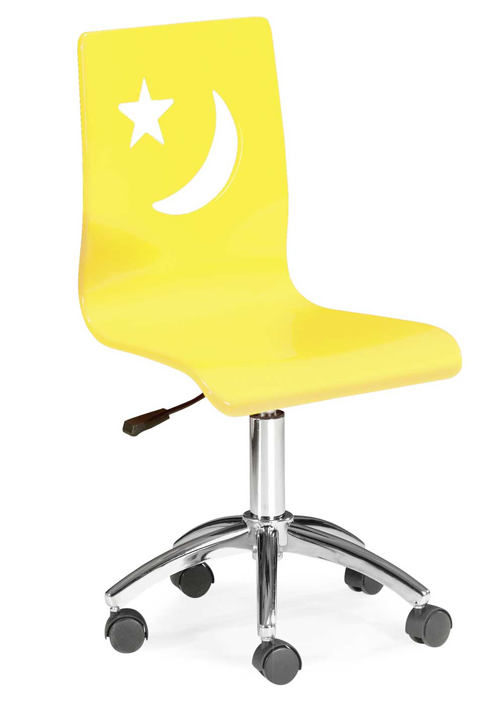 adjustable height yellow kids office chairs