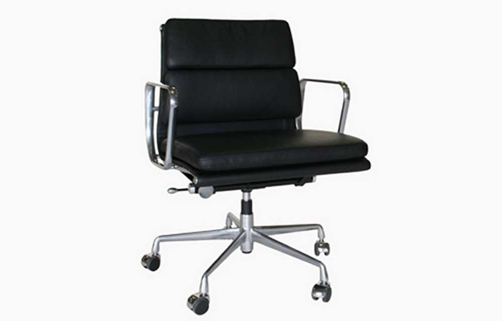 adjustable rolling leather home office chair