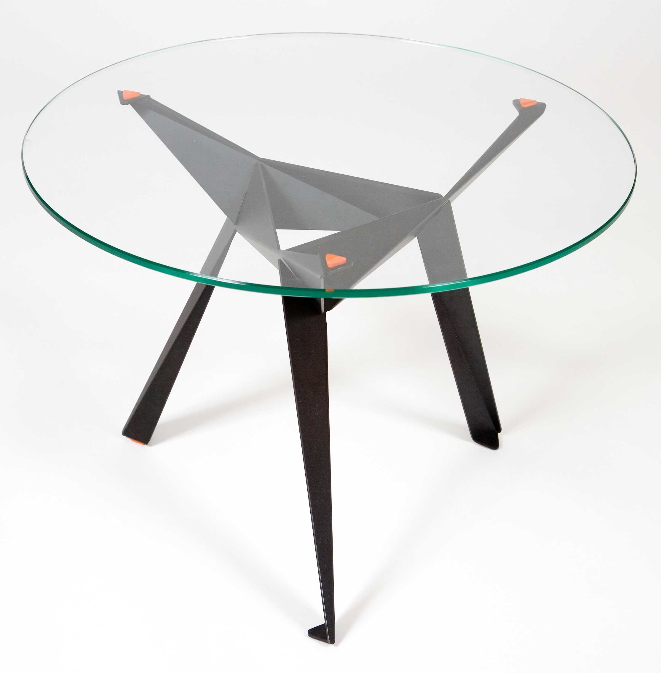 anthony dickens glass top origami table