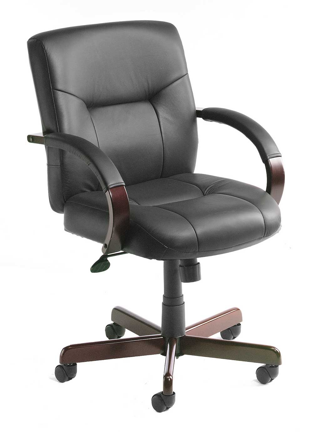 Black Leather Comfortable Desk Chairs