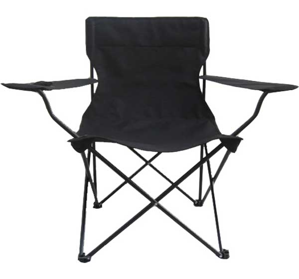 black oversized folding chair