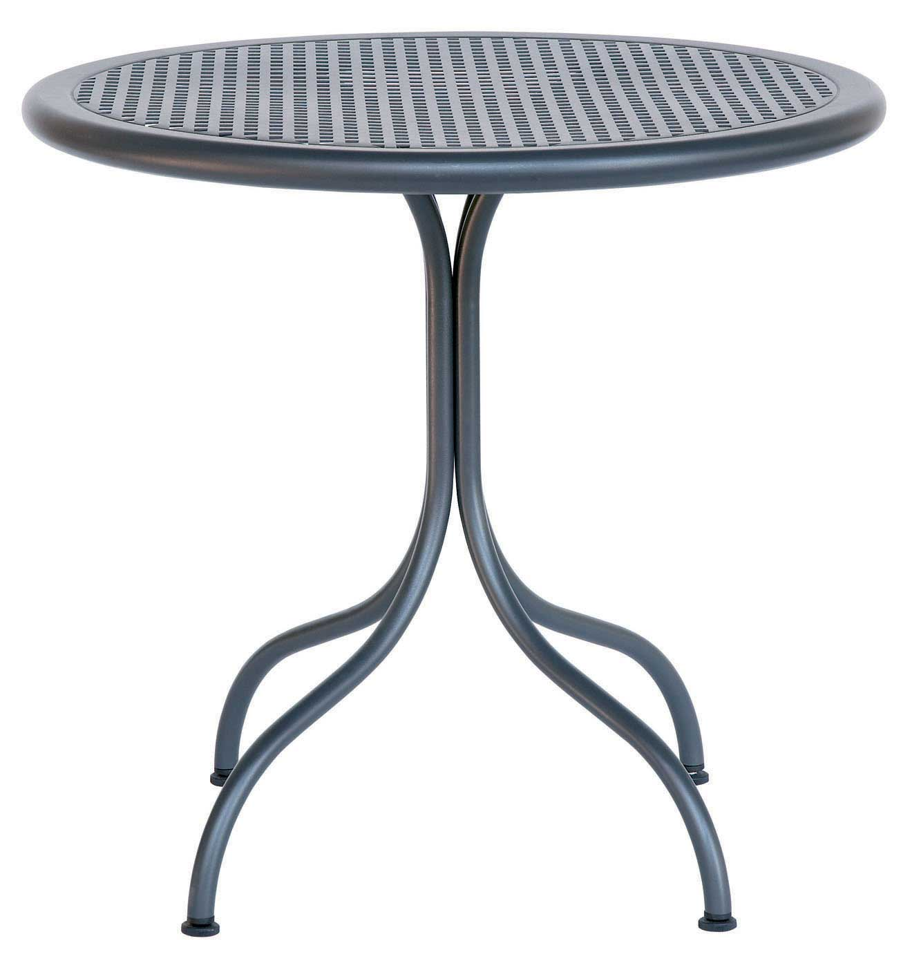 black top round folding metal table