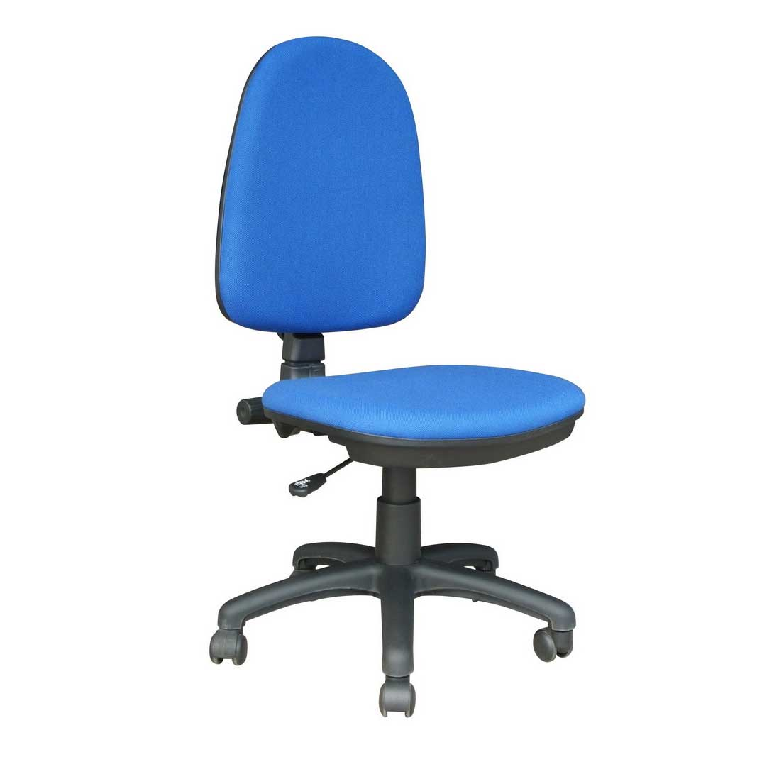 blue fabric cheap task chairs without arms