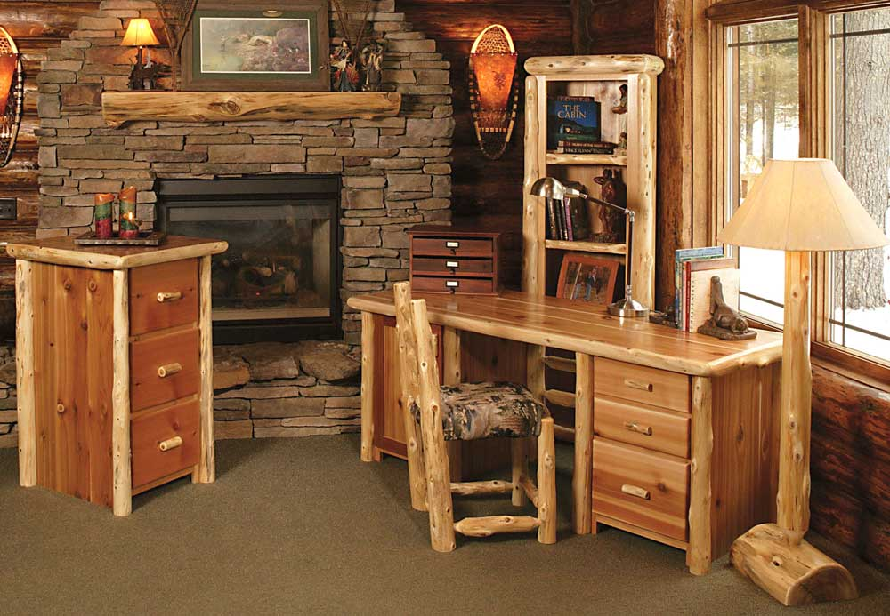 contemporary rustic home office furniture design