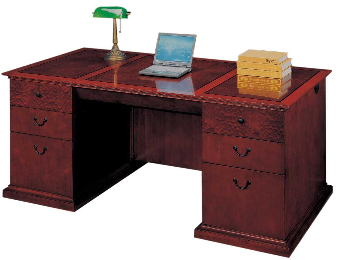 custom executive desks with double storage cabinet