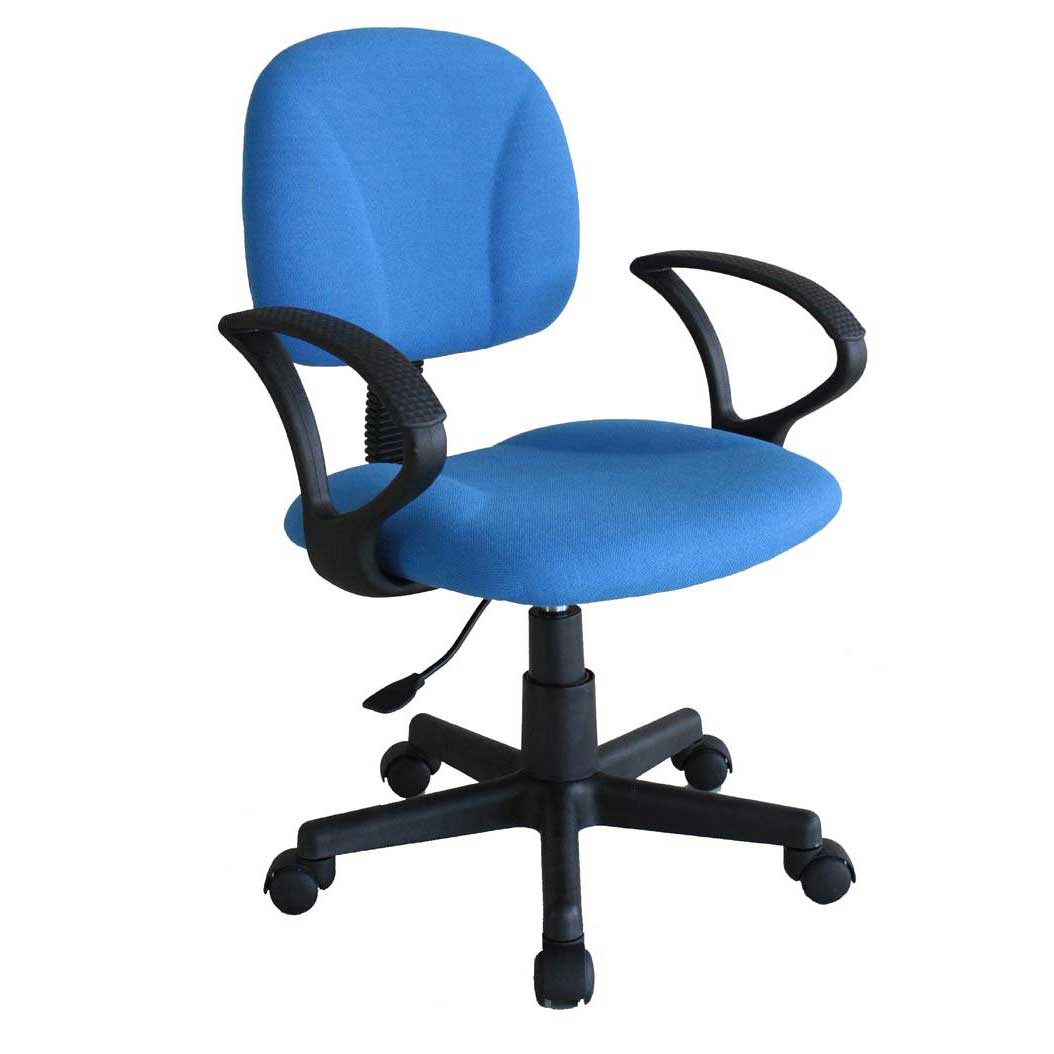 ergonomic inexpensive blue office task chairs