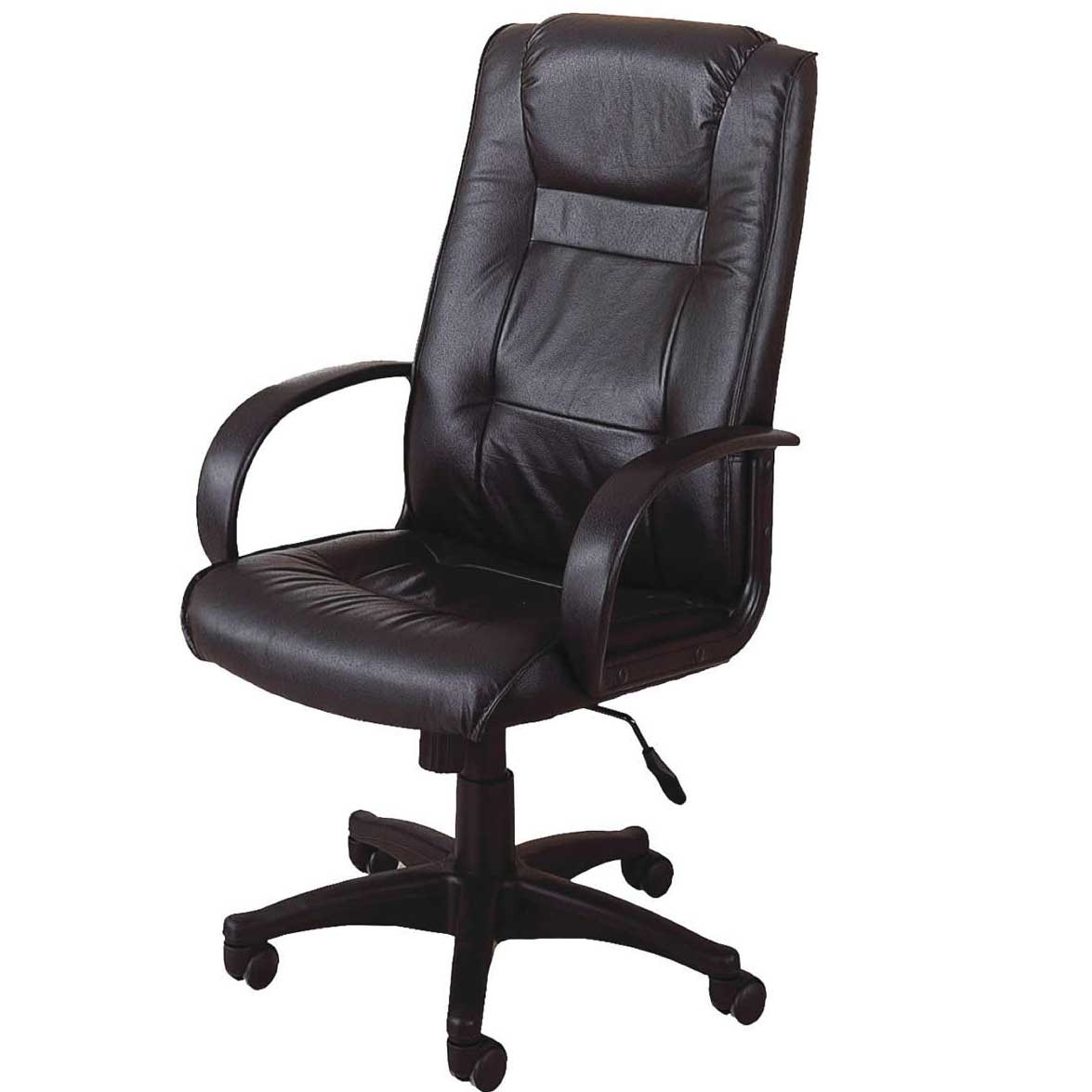 high back leather adjustable height home office chair
