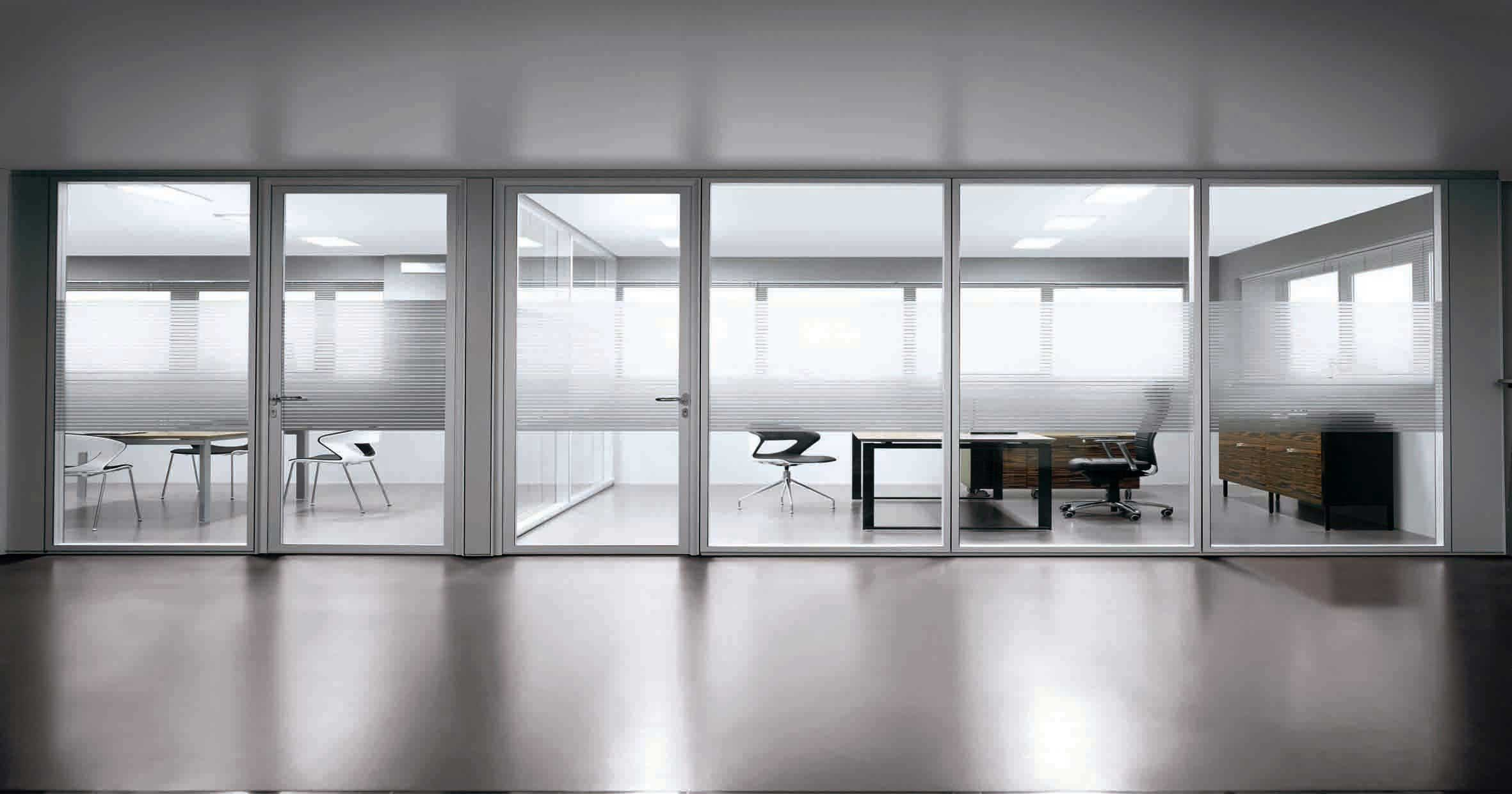 home office glass partition wall divider