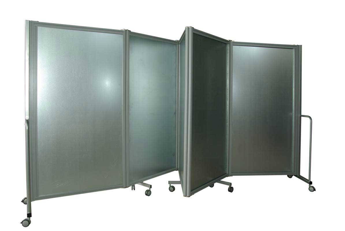 mobile wall partitions with 5 metal panel