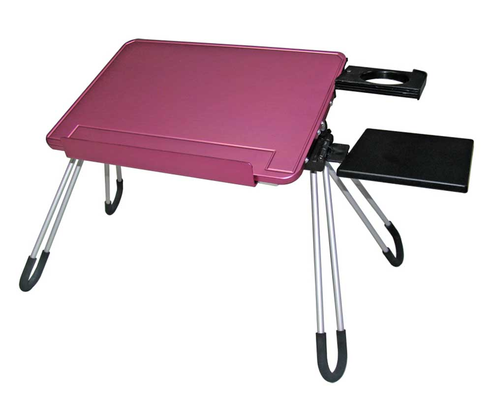 pink adjustable mini laptop stand