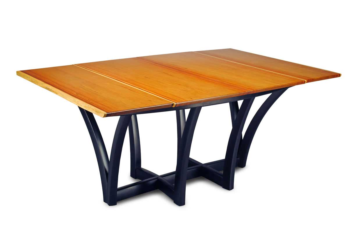 Dining table folding sides dining table for Folding dining table