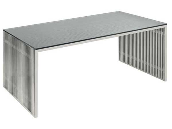 Amici Modern Stainless Steel Home Office Work Desk