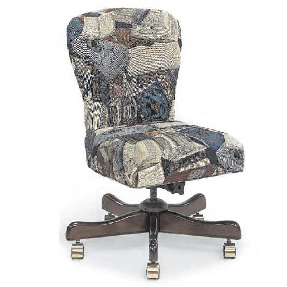 Armless Upholstered Fabric Office Swivel Chairs