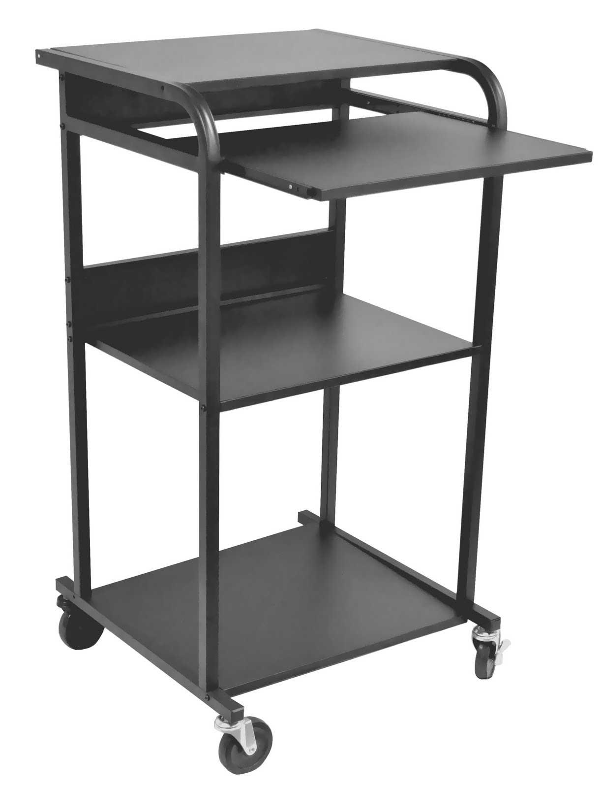 Balt Lapmaster black mobile laptop workstation stand